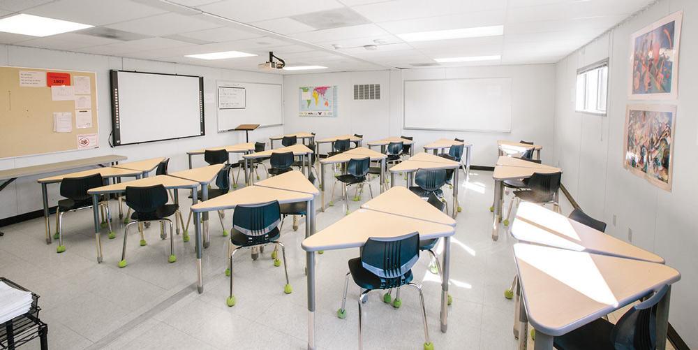 Interior Modular Classrooms